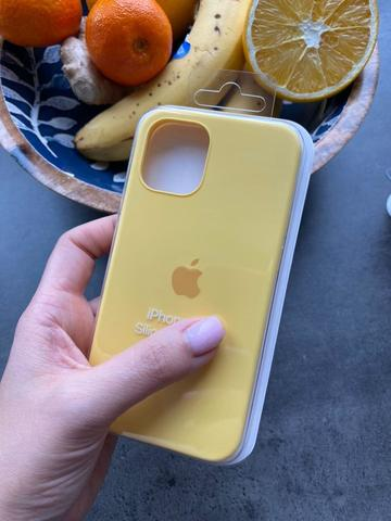 Чехол iPhone 12 (6,7) Silicone Case Full /yellow/