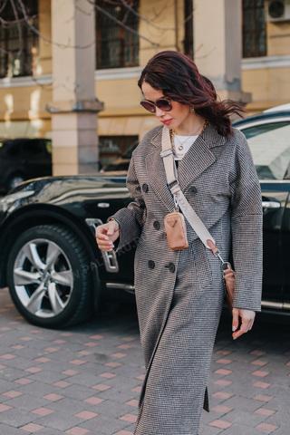 Пальто женское двубортное