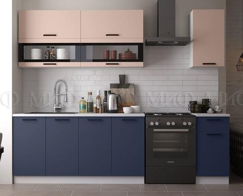 Кухня Техно NEW 2.0 м пудра-ультрамарин