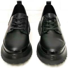 Закрытые туфли женские на шнурках Marani magli M-237-06-18 Black.