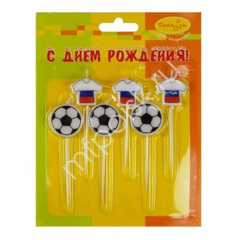 MС Свечи Футбол Россия 2,5см 6шт (3+3)