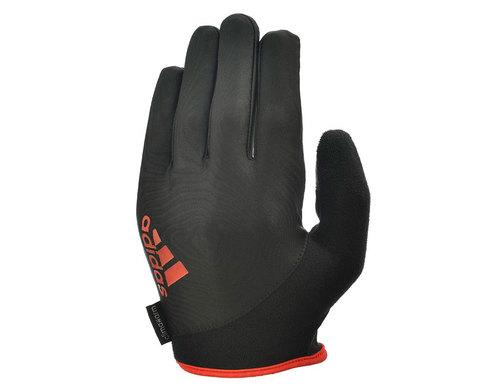 ADGB-12422RD Перчатки д/фитнеса (с пальцами) Adidas Essential черно\красные р.M