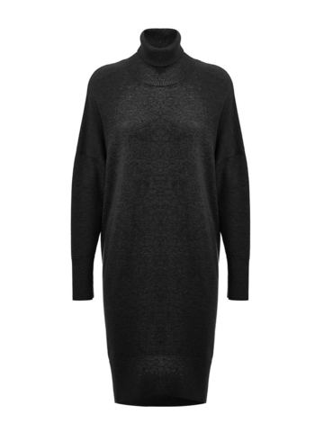 Женский свитер черного цвета из шерсти и кашемира - фото 1