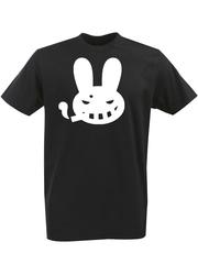 Футболка с однотонным принтом Заяц (Кролик) черная 001