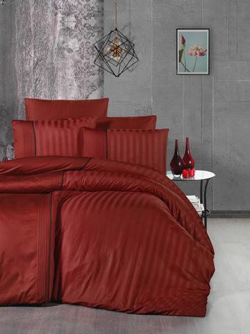 Комплект постельного белья DO&CO Сатин  жаккард DELUX 200*220 (50*70/2) (70*70/2) MODALIFE цвет красный