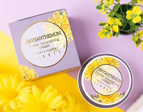 Jigott Питательный крем с экстрактом хризантемы, 100мл.