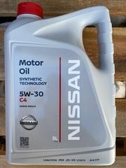 Синтетическое моторное масло Nissan 5W-30 C4 5 л