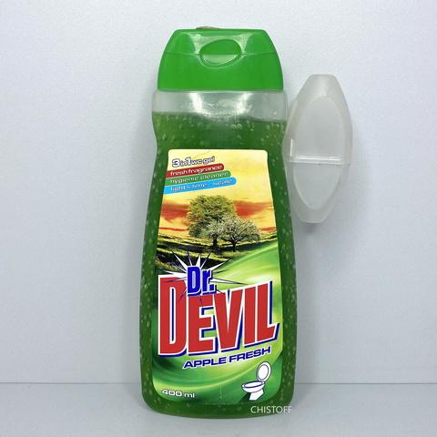 Гель для унитаза Dr. Devil Apple 400 мл + запасной блок