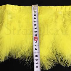 Купить оптом перья Марабу на ленте ярко-желтые Citrine в интернет-магазине