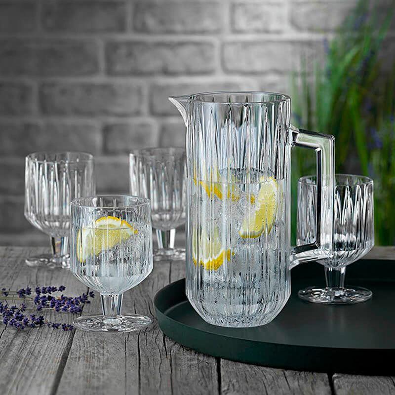 Набор для приготовления напитков Jules из 4 хрустальных бокалов и кувшина, Nachtmann (102708)
