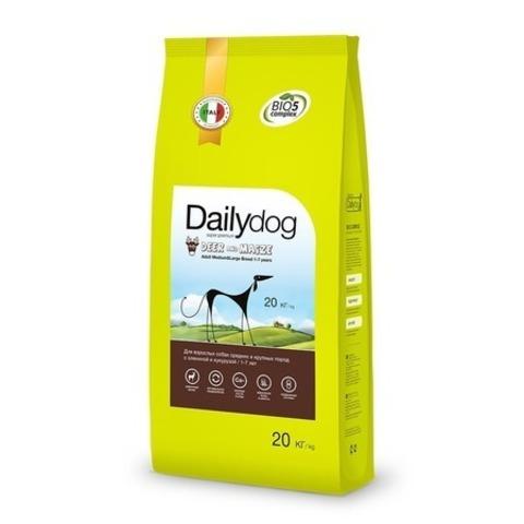 Сухой корм Dailydog Adult Medium Large Deer and Maize для взрослых собак средних и крупных пород с олениной и кукурузой, 20 кг.