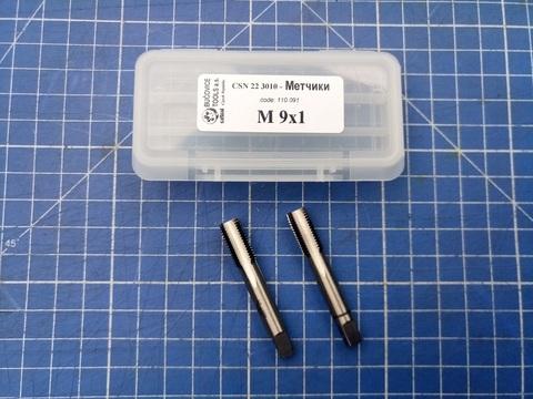 Метчик М9х1,0 (комплект 2шт) ?SN223010 2N(6h) CS(115CrV3) Bucovice(CzTool) 110091