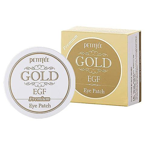 PETITFEE Гидрогелевые патчи для глаз  ЗОЛОТО PETITFEE Gold   EGF Eye & Spot Patch, 60 шт