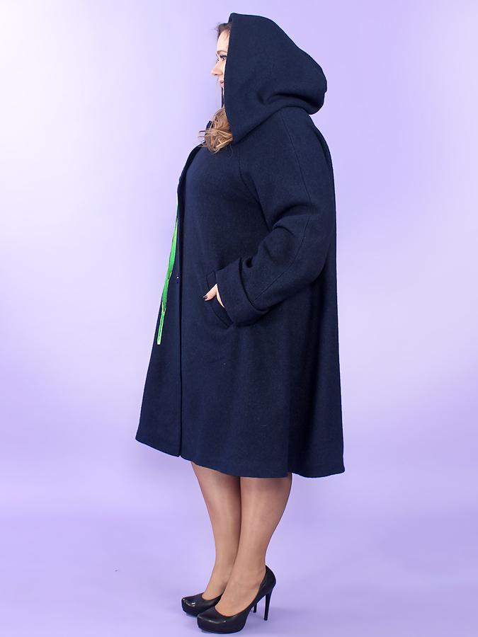 Пальто из варёной шерсти Чарующий ирис