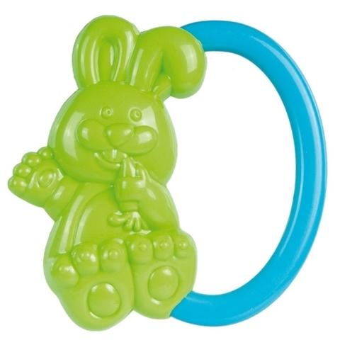 Погремушка - кролик, 0+ (зеленый)