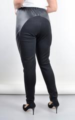 Бренда. Жіночі легінси великих розмірів. Чорний.