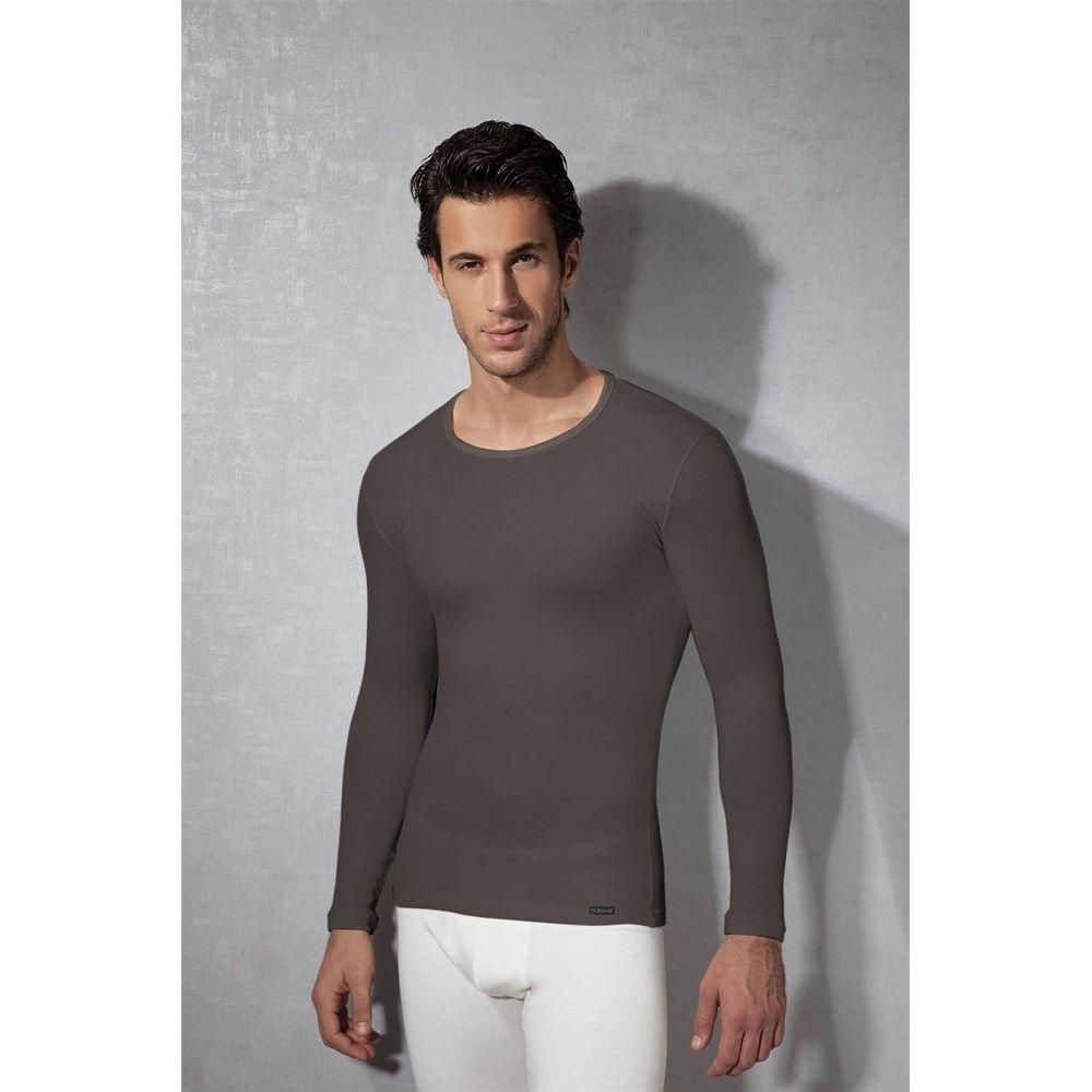 Мужская футболка с длинным рукавом термо Doreanse серая 2990