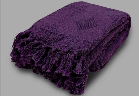 Покрывало хлопок Таити фиолетовый