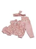 Комбинезон и платье - Розовый. Одежда для кукол, пупсов и мягких игрушек.