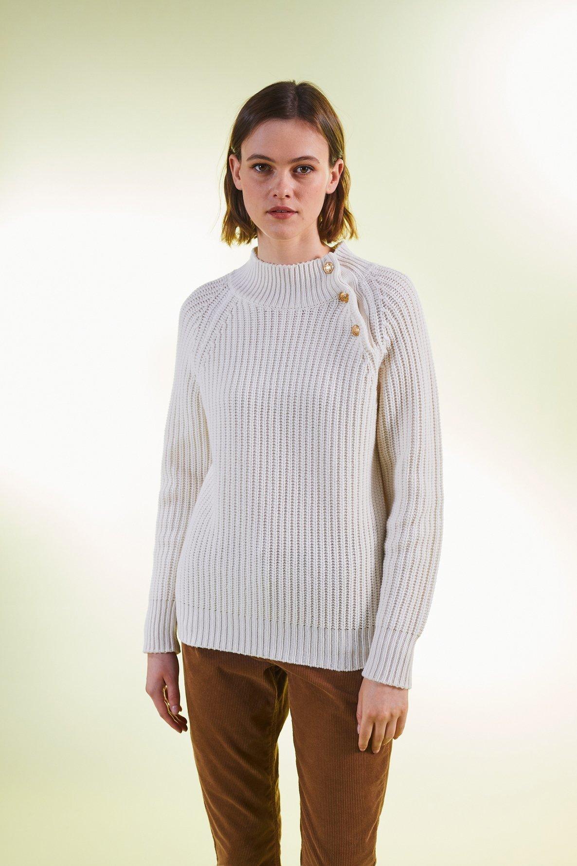 NOHELIA - Джемпер из мериносовой шерсти с пуговицами
