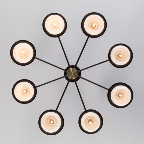 Потолочная люстра в стиле лофт 70106/8 черный