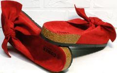 Красивые сандалии шлепки birkenstock женские Comer SAR-15 Red.