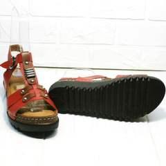 Красные босоножки сандали женские кожаные Rifellini Rovigo 375-1161 Rad.