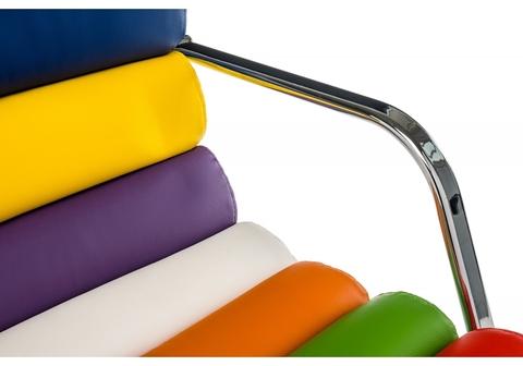 Барный стул Rainbow 51*51*94 - 114 Хромированный металл /Цветной кожзам