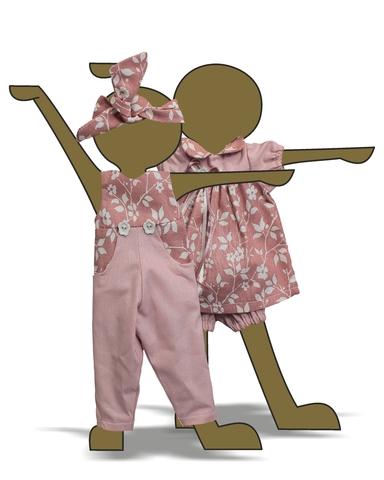 Комбинезон и платье - Демонстрационный образец. Одежда для кукол, пупсов и мягких игрушек.