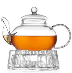 Стеклянный заварочный чайник с подогревом от свечи Orchid 600 мл
