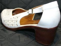 Женские туфли на среднем каблуке Marani Magli 031 405 White.
