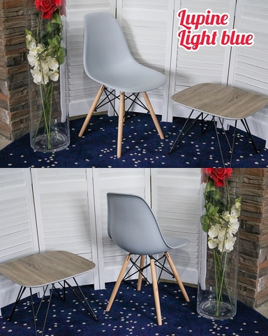 Стул LUPINE LIGHT BLUE М-City (обеденный, кухонный, для гостиной), Материал каркаса: Массив бука, Цвет каркаса: Натуральный, Материал сиденья: Пластик, Цвет сиденья: Голубой, Цвет: Голубой, Материал каркаса: Дерево