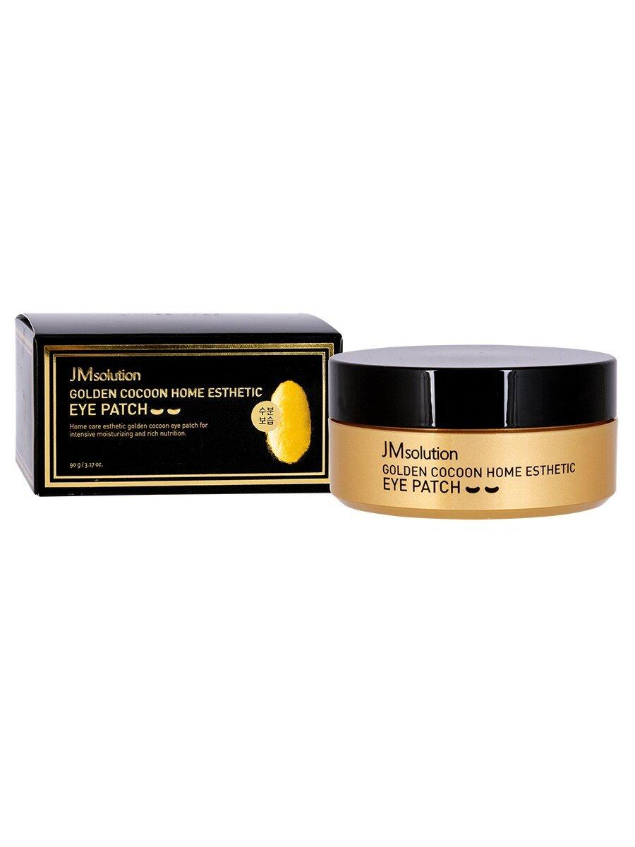 Патчи с экстрактом золотого шелкопряда для кожи вокруг глаз и шеи JMsolution Golden Cocoon Home Esthetic eye patch