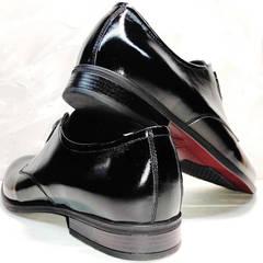 Модные мужские туфли  классические Ikoc 2118-6 Patent Black Leather