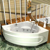 Ванна акриловая угловая Aquatek Сириус  164х164см. на каркасе и сливом-переливом