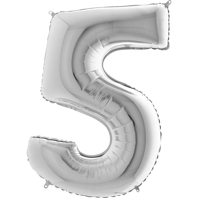 Серебряная цифра 5