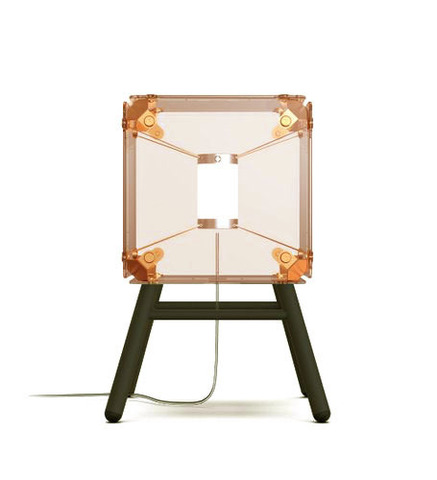 Настольный светильник копия Hyperqube by Felix Monza (1 плафон, янтарный)
