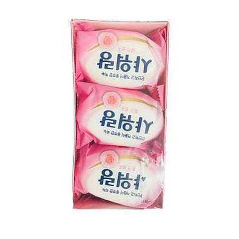 Мыло туалетное твердое Mukunghwa с ароматом розы 130 гр 3 шт