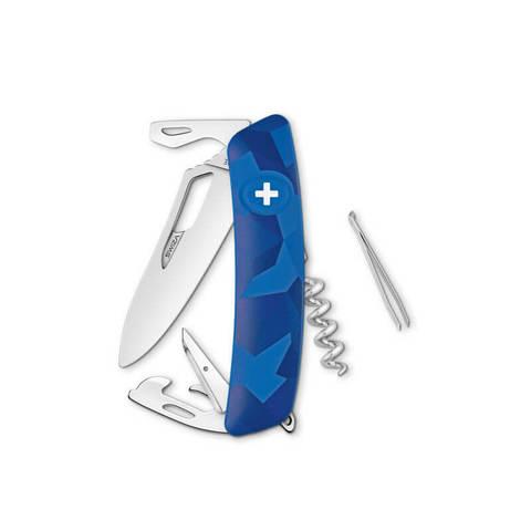 Швейцарский нож SWIZA SH03 R Camouflage, 95 мм, 11 функций, камо синий