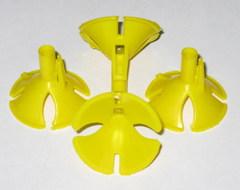 Зажим для шарика желтый (100 шт)