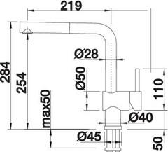 Смеситель Blanco Linus-S схема
