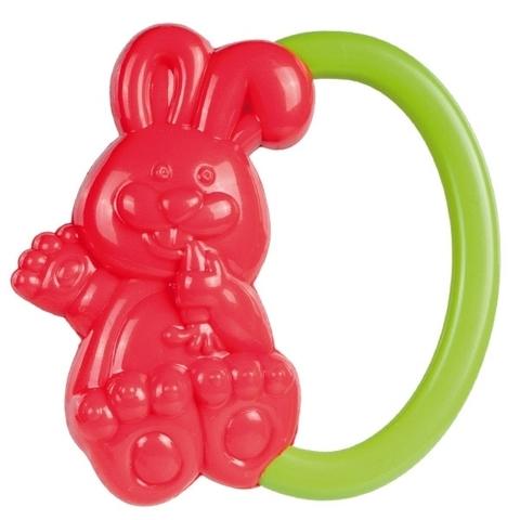 Погремушка - кролик, 0+ (красный)