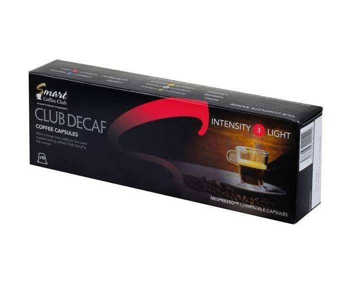 Кофе в капсулах Smart Coffee Decaf, 10 капсул для кофемашин Nespresso