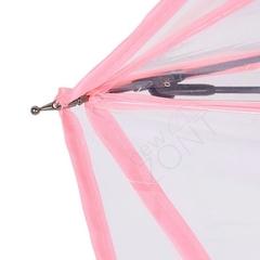 Зонт-наоборот прозрачный розовая сакура, механика