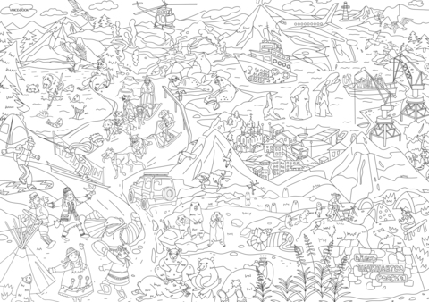 «Камчатка», серия «Удивительная Россия», гигантская раскраска 85 см