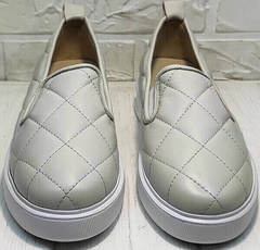 Кожаные туфли кеды женские лето Alpino 21YA-Y2859 Cream.