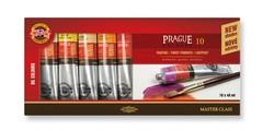 Краски масляные художественные PRAGUE в тюбиках 40мл, 10 цветов