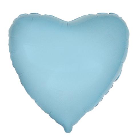 Шар-сердце голубой, 45 см