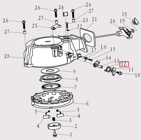 Пружина для лодочного мотора F9.8 Sea-PRO (8-12)