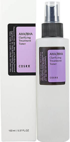 COSRX AHA/BHA Glarifying Treatment Toner тонер для лица с AHA/BHA кислотами 150мл